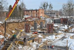 zdjęcie z budowy Artystyczne Osiedle