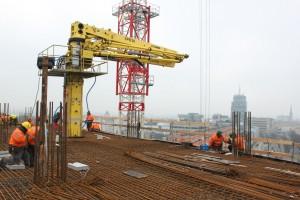 zdjęcie z budowy Hanza Tower