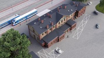zdjęcie z przebudowy Dworzec kolejowy PKP