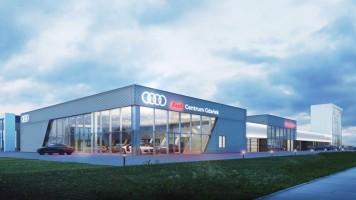 zdjęcie z budowy Salon Skody i Audi
