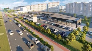 zdjęcie z budowy Park handlowy RWS Gdańsk Zaspa