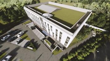 zdjęcie z budowy Centrum Medycyny Weterynaryjnej