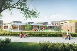 zdjęcie z budowy Centrum Administracyjno-Usługowe w Juszkowie
