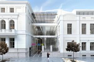 zdjęcie z przebudowy Centrum Obywatelskie
