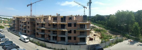 zdjęcie z budowy Słoneczne Miasteczko