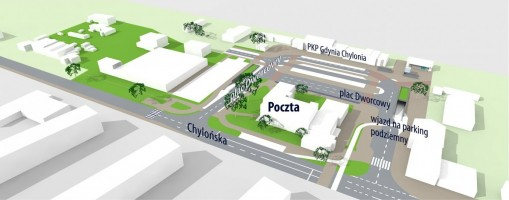 zdjęcie z budowy Węzeł integracyjny Gdynia Chylonia