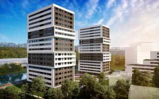 zdjęcie z budowy Aura Towers