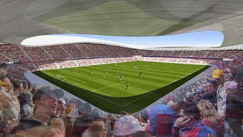wizualizacje Stadion Zagłębia Sosnowiec