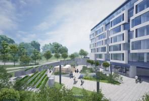 zdjęcie z budowy Biurowiec Square