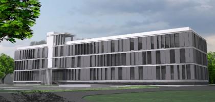zdjęcie z budowy Budynek Wydziału Medycznego Collegium Medicum UKSW