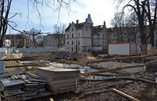 zdjęcie z budowy Ogrody Graua