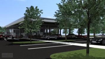 zdjęcie z budowy Dworzec autobusowy