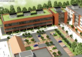 zdjęcie z budowy Śląskie Centrum Inżynierskie Wspomagania Medycyny i Sportu