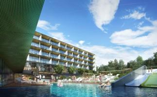 zdjęcie z budowy H2O Hotel