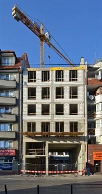 zdjęcie z budowy Kamienica Pod Pelikanem