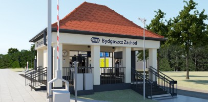 wizualizacje Dworzec kolejowy Bydgoszcz Zachód