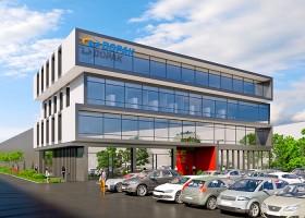 zdjęcie z budowy Centrum Badawczo-Rozwojowe Dopak