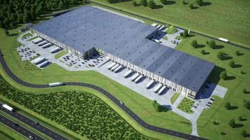 zdjęcie z budowy GLP Warsaw III Logistics Centre