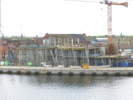 zdjęcie z budowy Morskie Centrum Nauki im. prof. Jerzego Stelmacha