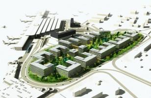 wizualizacje Chopin Airport City