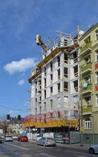zdjęcie z budowy Łowiecka 21