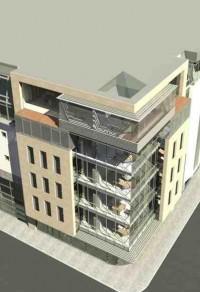 wizualizacje Budynek biurowo-handlowy