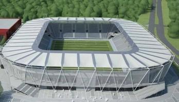 zdjęcie z budowy Stadion Miejski