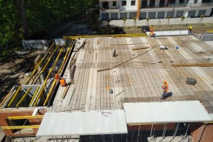 zdjęcie z budowy Wyspa Solna