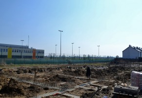 zdjęcie z budowy Leśna Aleja