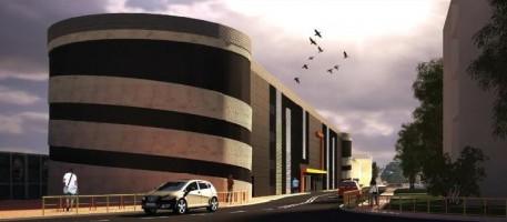wizualizacje 4-poziomowy parking przy dworcu PKP