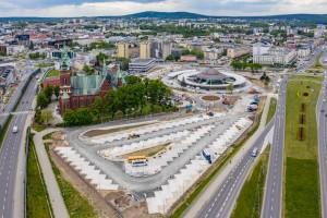 zdjęcie z budowy Centrum Komunikacyjne
