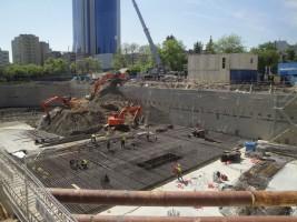 zdjęcie z budowy Chmielna 89