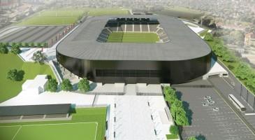 zdjęcie z budowy Stadionu Miejskiego im. Floriana Krygiera