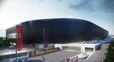 zdjęcie z budowy Stadion Pogoni Szczecin