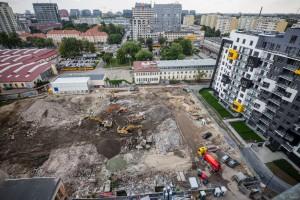 zdjęcie z budowy CityLink