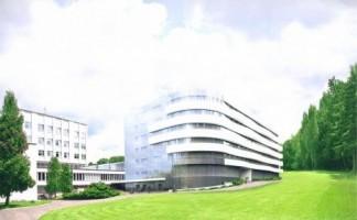 zdjęcie z budowy Budynek Górnośląskiego Centrum Rehabilitacji im. Gen. Jerzego Ziętka
