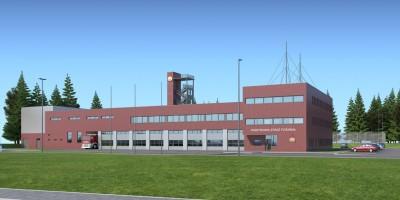 wizualizacje Strażnica Komendy Miejskiej Państwowej Straży Pożarnej