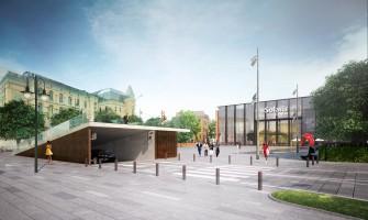 zdjęcie z przebudowy Solaris Center