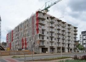 zdjęcie z budowy Promenady Wrocławskie