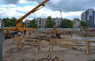 zdjęcie z budowy Apartamenty Księcia Witolda