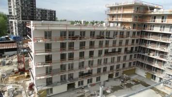 zdjęcie z budowy Krakowskie Tarasy II