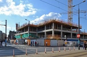zdjęcie z budowy Biurowiec Nowy Targ