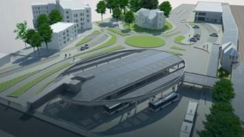 zdjęcie z budowy Centrum przesiadkowe
