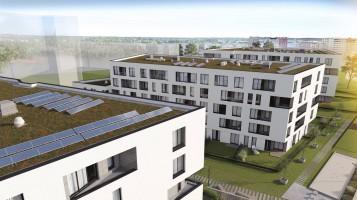 zdjęcie z budowy Myśliwska Solar Garden
