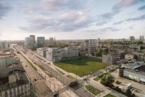 zdjęcie z budowy Biurowiec React