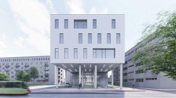 wizualizacje Budynek ambulatoryjny Wielkopolskiego Centrum Onkologii