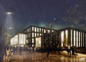 zdjęcie z budowy Hala Sportowa Akademii Górniczo-Hutniczej