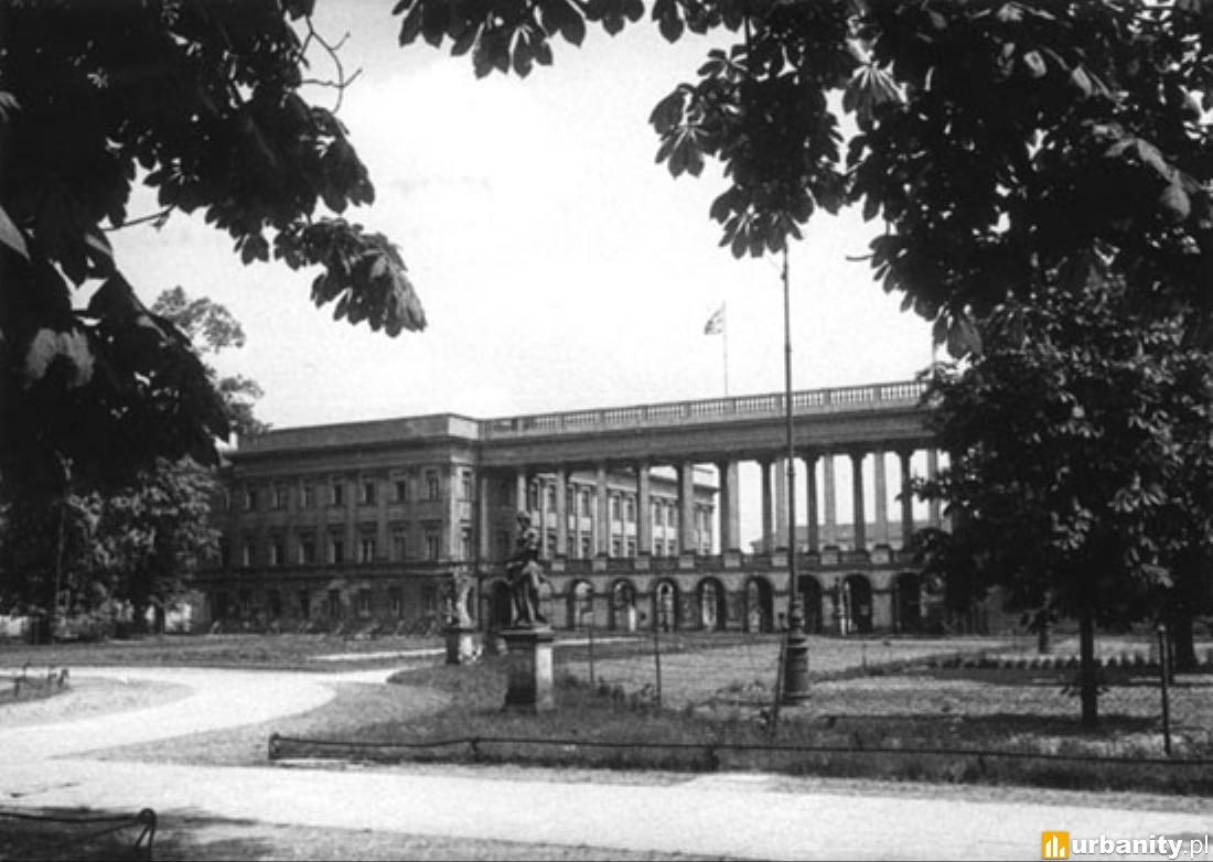 Widok od strony Ogrodu Saskiego, 1932
