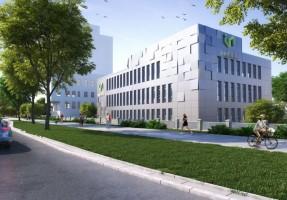 zdjęcie z przebudowy Uniwersytecki Inkubator Przedsiębiorczości inQube