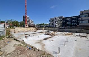 zdjęcie z budowy Biurowiec Krakowskie Tarasy III